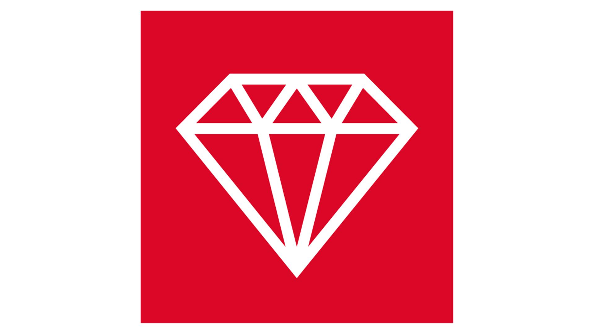 icon, 7 strenghts of stone, white on red background, for website, stärken von steinwolle, weiß auf rot, robustness, durability, langlebigkeit, germany