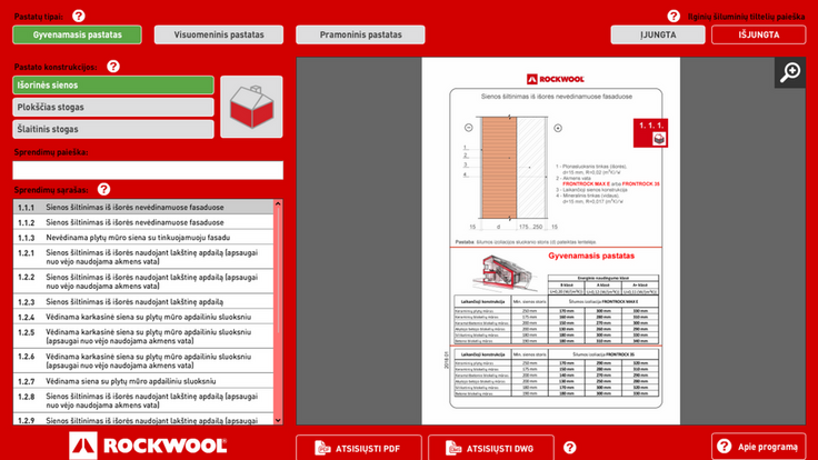 u-value, app, application, software, catalogue, thermal bridges, calculations, interface, front end