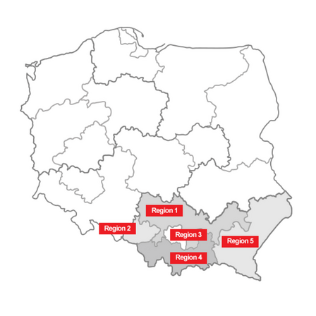distribution map, Artur Malyska