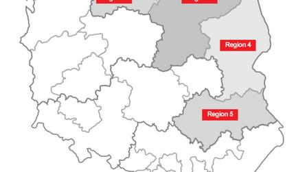 distribution map, Michal Osowski