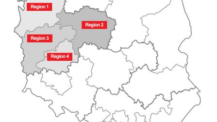 distribution map, Tomasz Forjasz