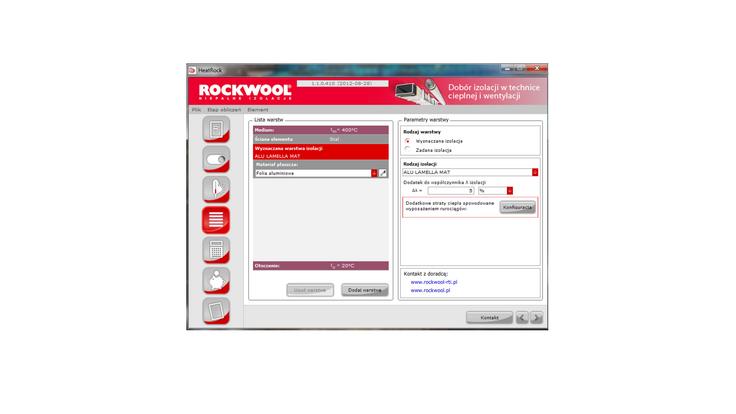 heatrock, application, calucation tool