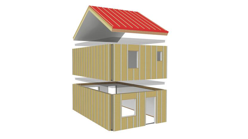 illustration rockzero building, rockzero bausystem, schematische darstellung gebäudeaufbau