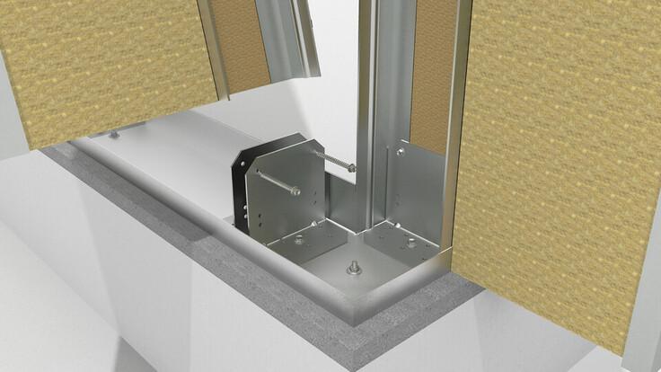 illustration rockzero builiding step 1 , rockzero bausystem, schematische darstellung gebäudeaufbau step 1