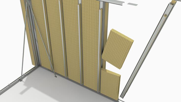illustration rockzero builiding step 2, rockzero bausystem, schematische darstellung gebäudeaufbau step 2