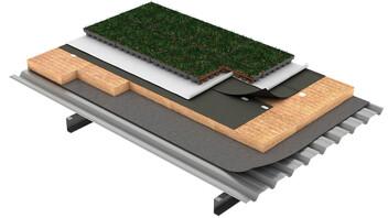 Flat roof, Acabados especiales DECKROCK ajardinada