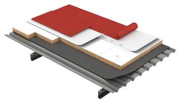 Flat roof, Solución Combi MEGAROCK, Metal Box, cubierta deck