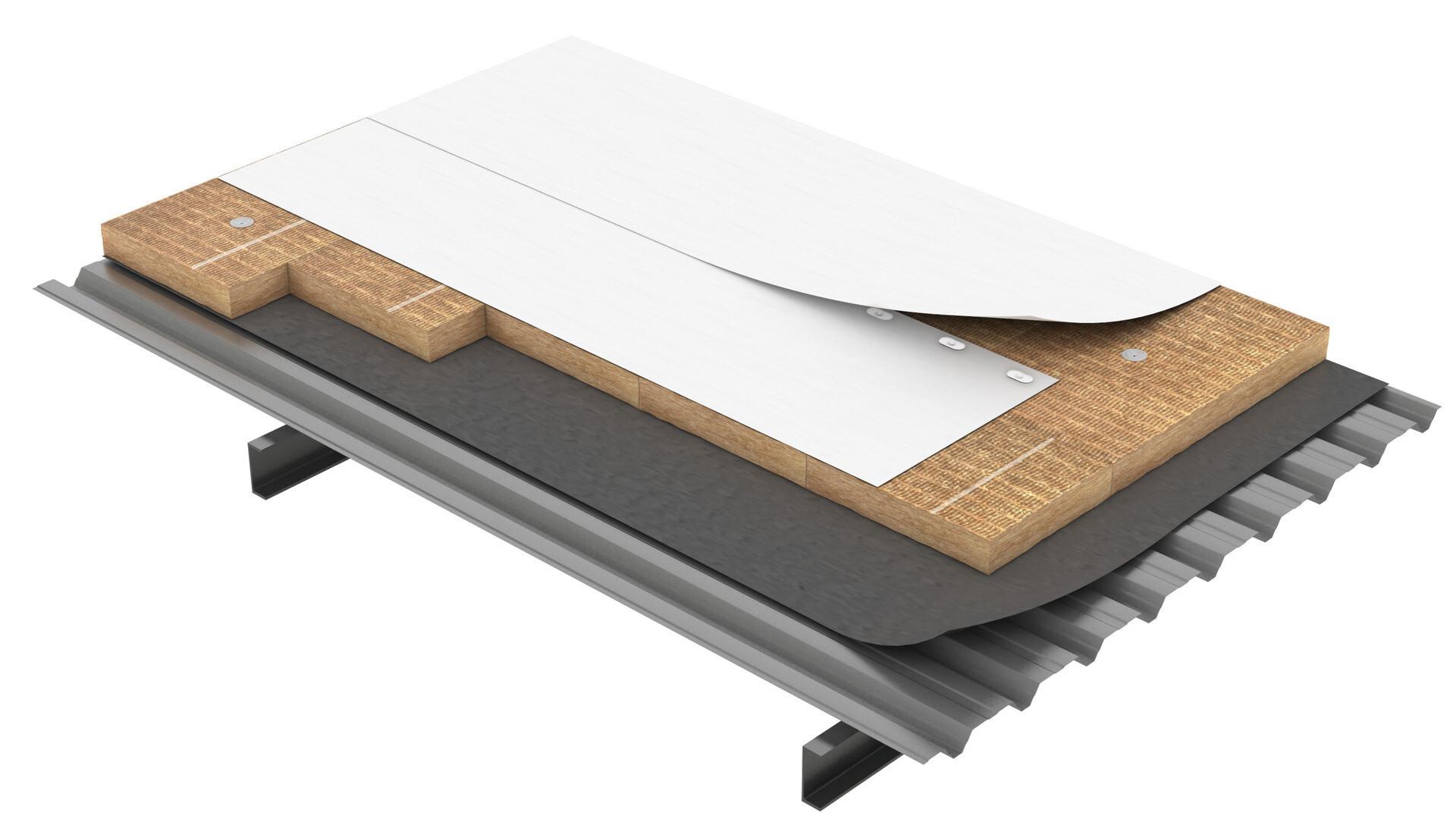Flat roof, Cubierta plana Solución Combi Durock Energy SP