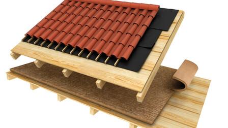 pitched roof render, Sobre último forjado Obra nueva (Manta)