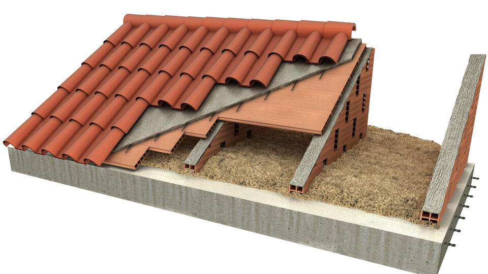 pitched roof render, Sobre ultimo forjado Rehabilitación (borra)