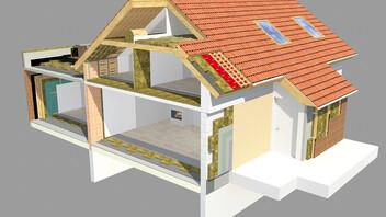 single family house application, solution d'isolation par application
