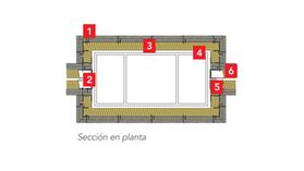 ROXUL - best practices - buenas prácticas Detalle 10: Patinillos de instalaciones y de ventilación trasdosados con placa de yeso laminado