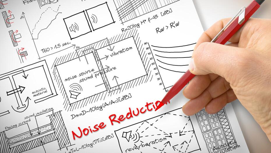Acoustics, blueprint, noise, sound