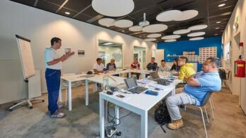 news article illustration, training seminars, monolithic solutions, modular solutions, training center, installer, distributor, architect,  wijnegem, FR