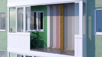 Façade, Fasad batts balkon, Balcony, installation