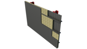 Double Skin Metal Wall BIM image