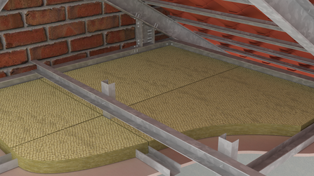 Plasterboard ceiling with Thermalrock S40