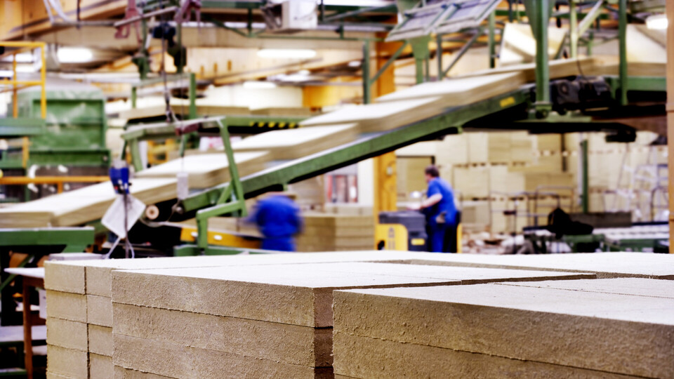 Production line, ROCKWOOL insulation