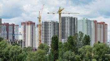 MUH, High-rise, construction, crane, regeneration. Kiev, Ukraine