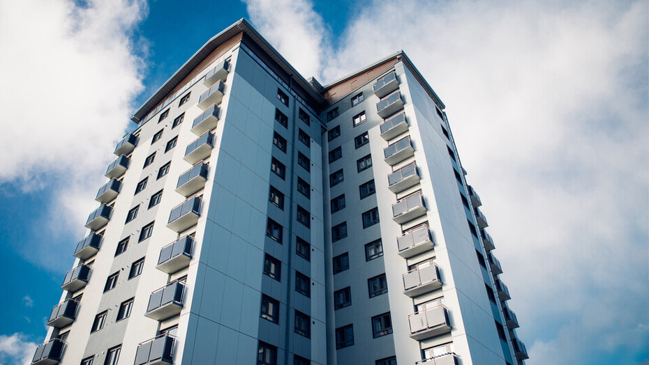 Rockpanel Lion Farm Estate, building, high-rise, residential tower, aesthetics, renovation, energy efficiency, England, fire safety,