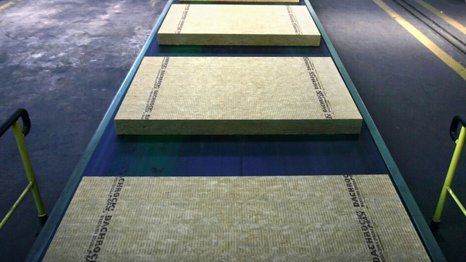 stone wool, production of stone wool, assembly line