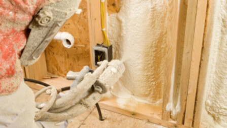 foam, spraying, insulation, construction, internal walls