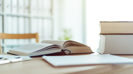 Books, desk, interior, work