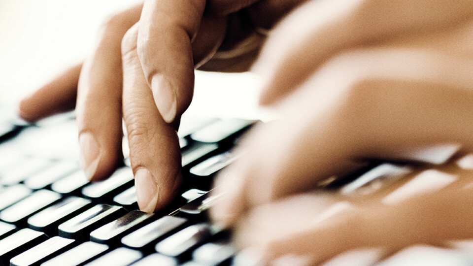 hands on keyboard, press, contact