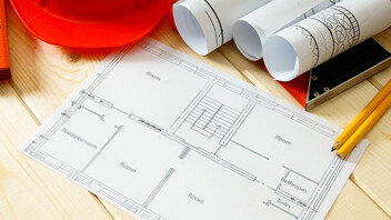 table, contractor, drawing, tools
