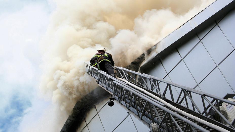 fire, fireman, brand, ladder, dak