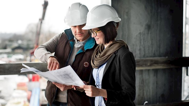 construction site, werf, overleg, architecte
