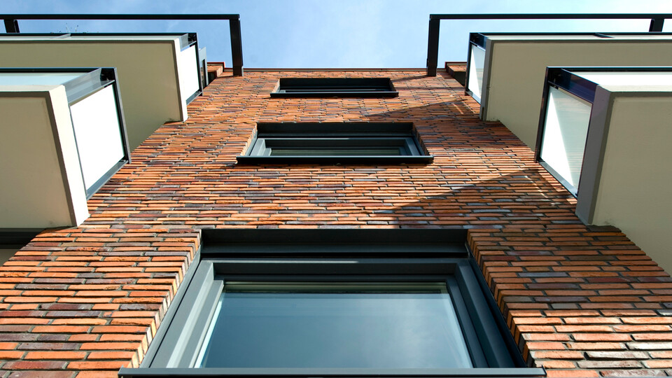spouw, cavity wall insulation, appartments