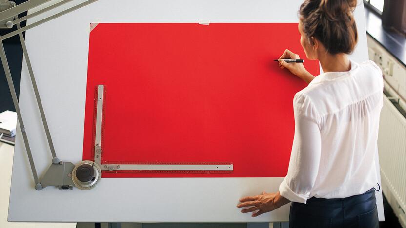 tekentafel, architect, denk breder, drawing board