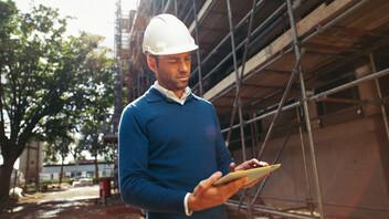 denk breder, ipad, construction site, contractor
