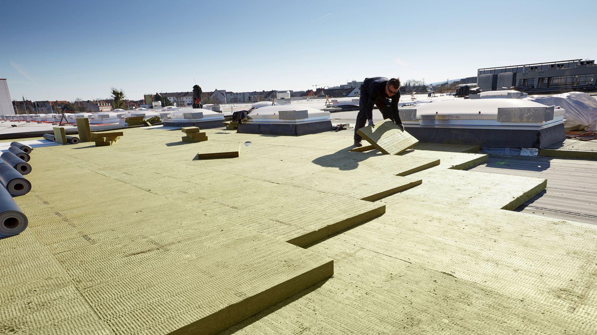 flatroof, flat roof, insulation, georock 038, georock, installation, installer, broschüre dämmung von flachdächern, germany, RO-2018-0019