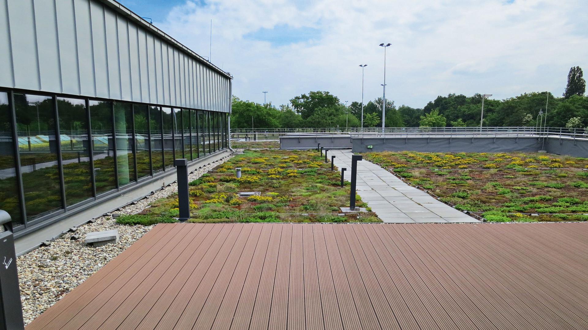 flatroof, flat roof, higher stressed flat roof, roof terrace, megarock, germany
