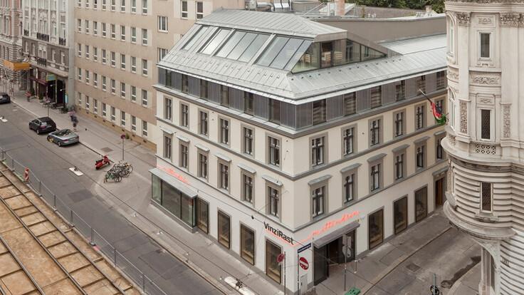 reference, vinzirast mittendrin, roof construction, wien, austria
