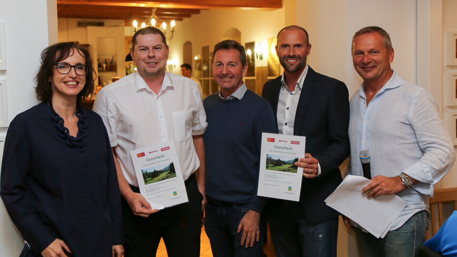 press, golf tournament 2018, winners, ceremony, adamstal, presse, austria