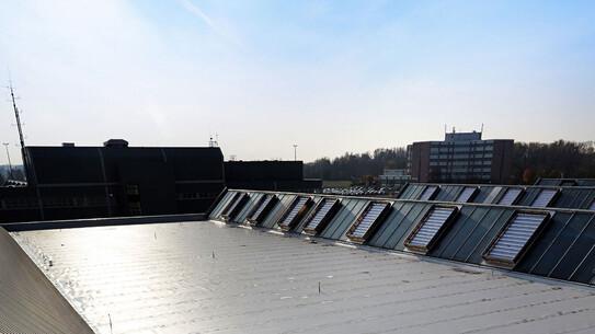 flat roof, outside