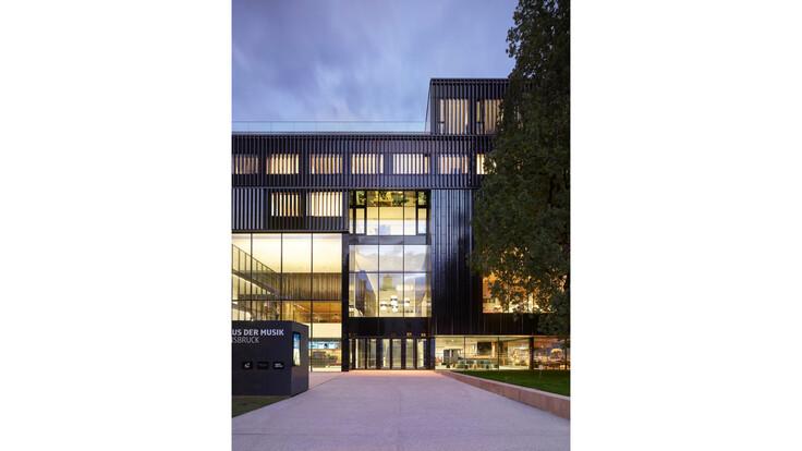 reference, house of music innsbruck, haus der musik innsbruck, entrance area, external wall, ventilated facade, austria