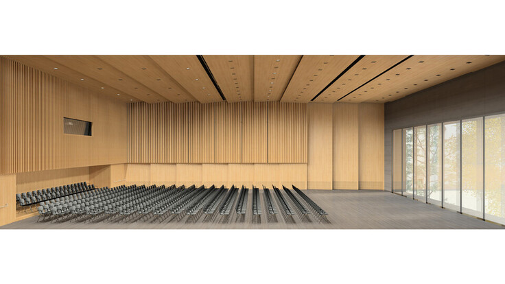 reference, house of music innsbruck, haus der musik innsbruck, visualisation, rendering, concert hall, austria