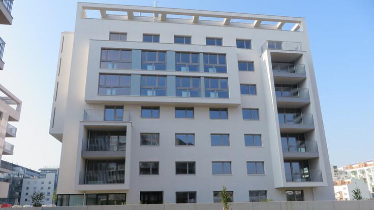 reference, decrock, attemsgasse 31, residential neighbourhood, residential building, facade, vienna, austria