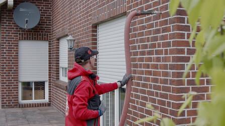 fillrock 035, einblasdämmung, steinwolle-granulat, nichtbrennbar, dämmung hauswand,  renovation, blown insulation, blow-in insulation, granulate , insulation housewall, press, presse, Germany