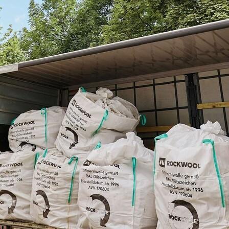 Recycling, rockcycle, germany, BigBag, Pick up BigBags, construction site Leipzig