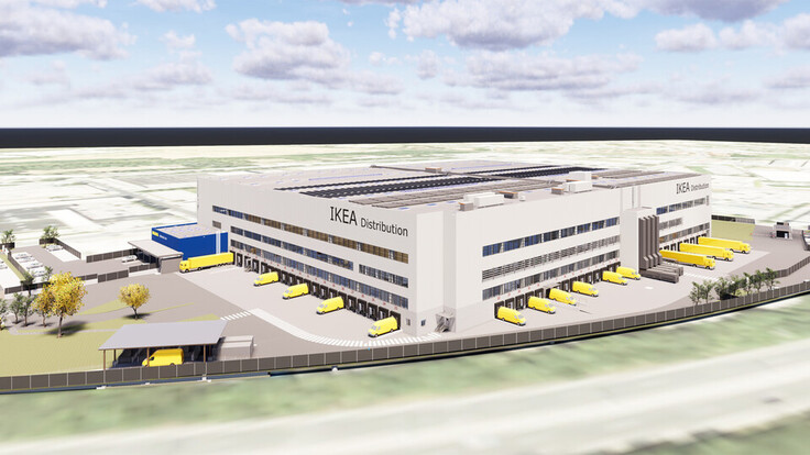 reference, ikea, distribution center, ikea cdc, planning, flat roof, strebersdorf, austria