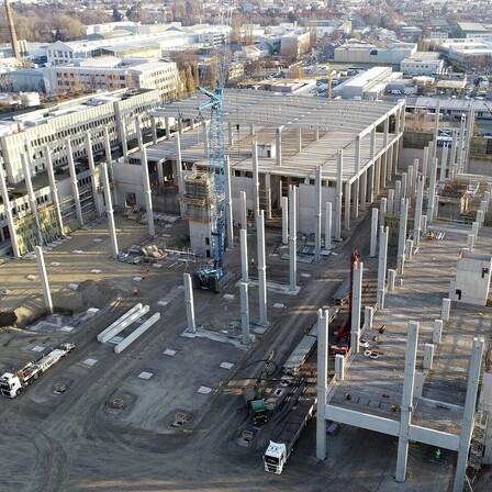 reference, ikea, distribution center, ikea cdc, construction phase, flat roof, strebersdorf, austria