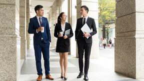 Business people walking