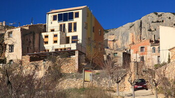 La Morera del Montsant, community centre, REDArt Woods, facade