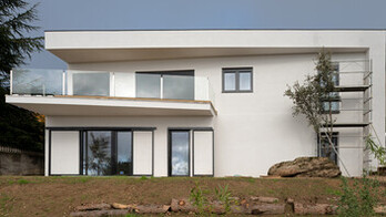 Miraflores de la Sierra, single family house, REDArt Woods, facade
