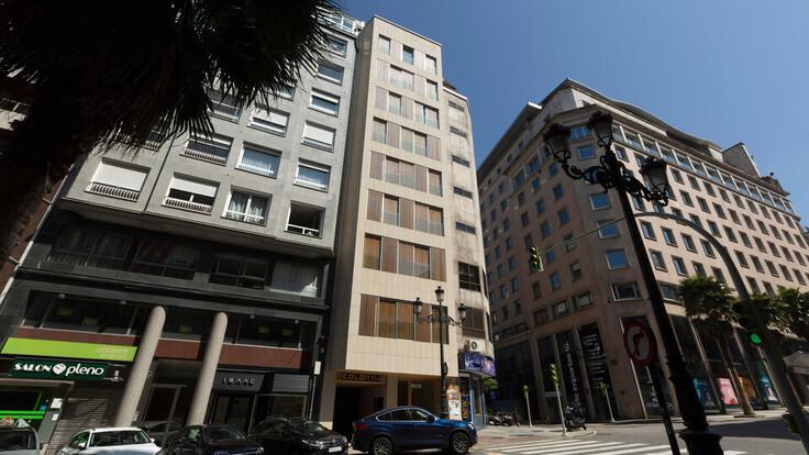 Hotel Colon Galicia de Vigo reconvertido en viviendas Passivhaus REDArt silicato, Ventirock, Hotel reconverted in Multi family house